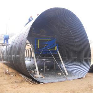 1200g/m2 galvanized corrugated steel culvert pipe