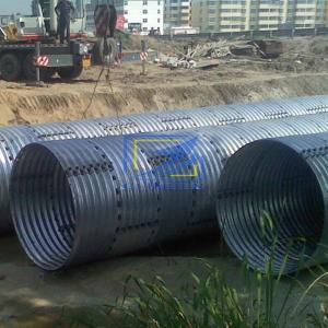 corrugated steel culvert pipie with 610g/m2 zinc coating