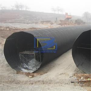 round corrugated steel culvert pipe assembled by bolts and nuts