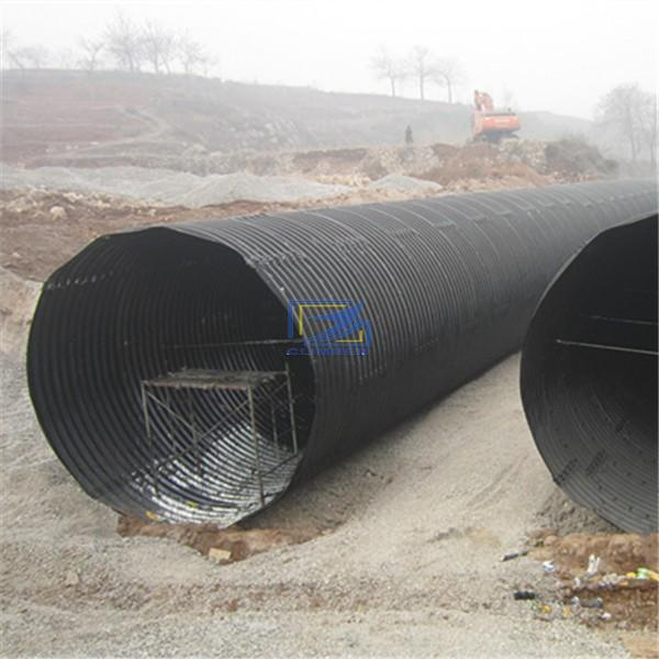 culvert pipe assembled by corrugated steel plates