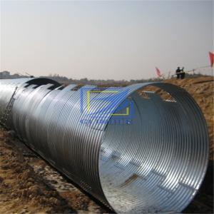 corrugated galvanized culvert pipe in Chile
