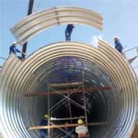 corrugated steel culvert used in road custruction