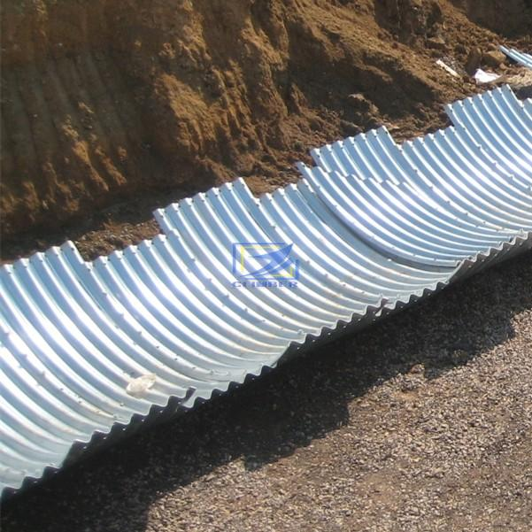 supply the corrugated metal pipe and  corrugated culvert to Rwanda