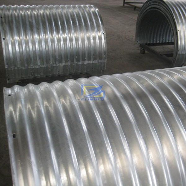 anular corrugated steel pipe assemlbed by two half plates