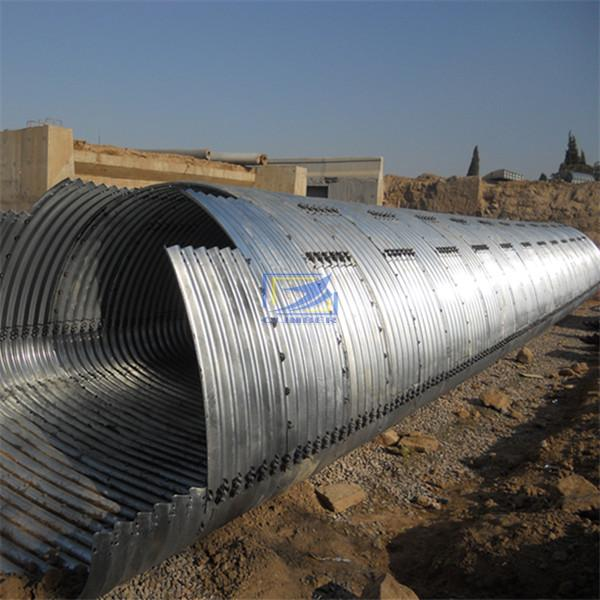 supply corrugated steel culvert pipe to Indonesia