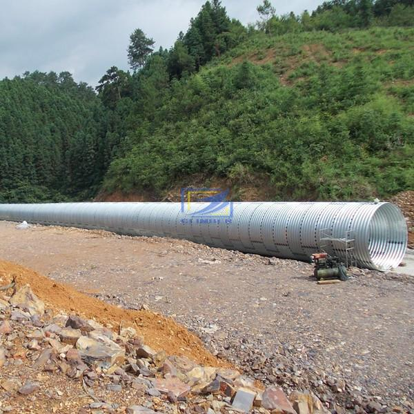 supply corrugated steel culvert pipe to Boliva