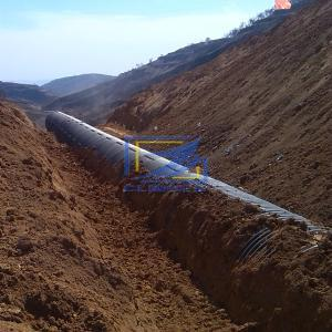 backfill the 150mmX50mm  corrugated steel culvert pipe in the road project