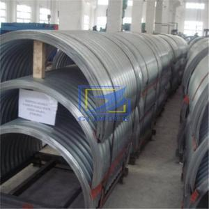 68x13mm corrugated metal culvert pipe assembled by hafl round segment