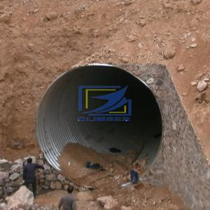 corrugated steel culvert pipe