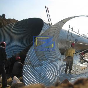 installing the corrugated steel culvert on site