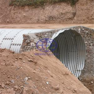 pipe culvert assembled by corrugated steel plates