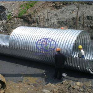 200x55 corrugated steel culvert supplied to west africa