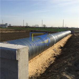 hot galvanized corrugated steeel culvert pipe in road construction