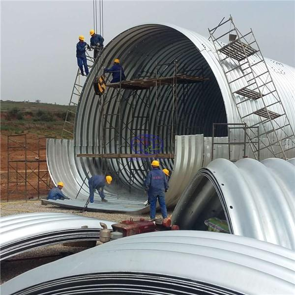 supply the galvanzied corrugated steel culvert pipe to Russia