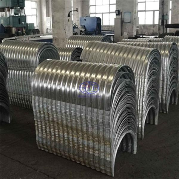 corrugated steel culvert assembled by two half round parts