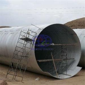 we supply galvanzied corrugated steel culvert pipe to UN in Somalia