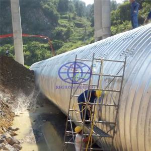 Galvanzied metal culvert with corrugation