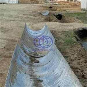 corrugated steel pipe for ditch or water channel
