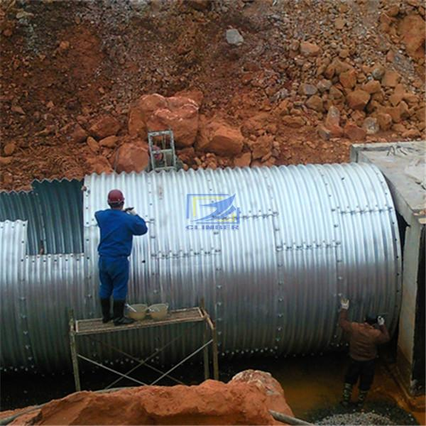 round corrugated steel pipe  as the culvert