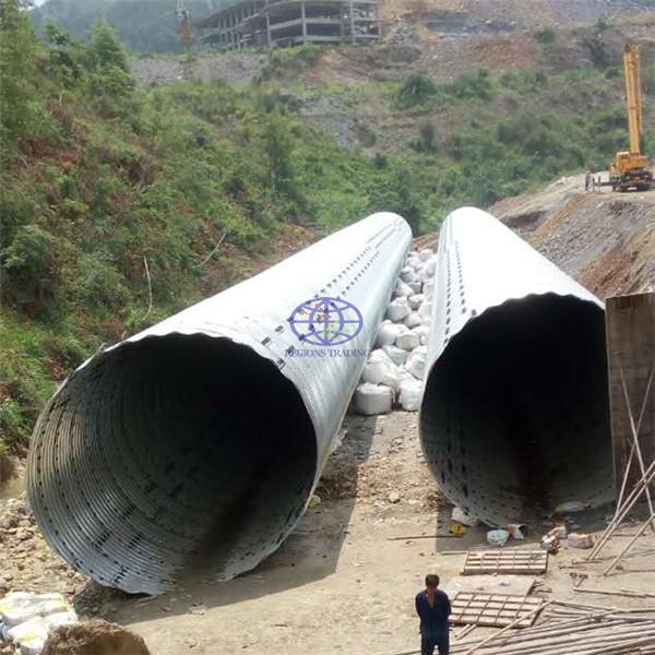 supply galvanized steel culvert pipe to Tanzania