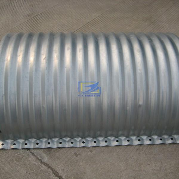 610g/m2 flanged nestable corrugated steel pipe