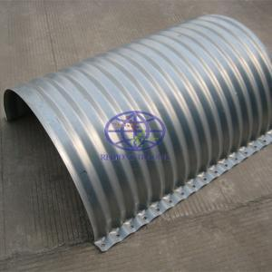 half flanged corrugated steel pipe