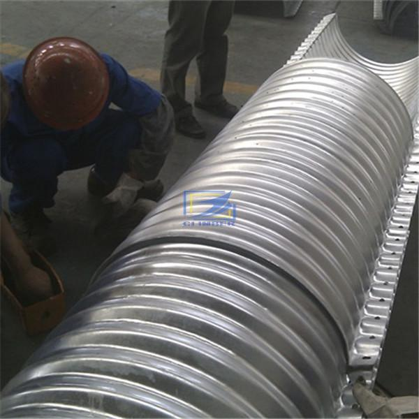 hot galvanzied flanged nestabled corrugated steel pipe