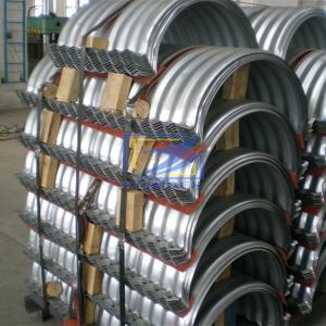 half circle corrugated steel pipe with flanged side