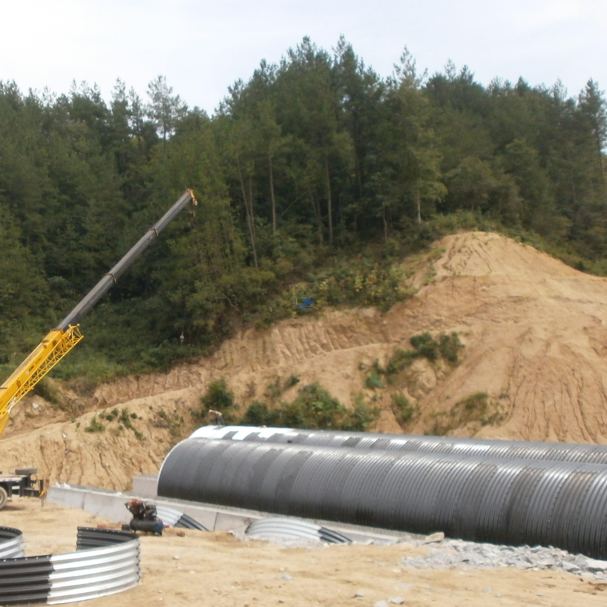 Hot Galvanzied Corrugated Metal Culvert Pipe With Deep