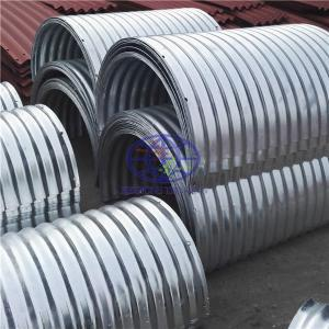 Supply  the hot galvanzied  steel culvert pipe to UAE
