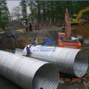 Hot galvanized corrugated steel pipe bolted by semi round parts