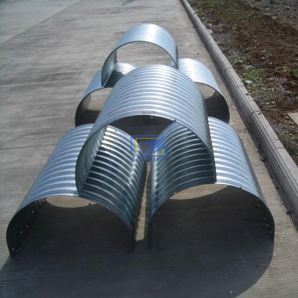 Hot Galvanized Corrugated Steel Pipe Bolted By Semi Round