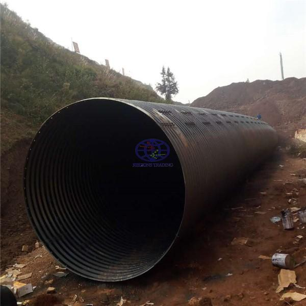 supply corrugated steel culvert pipe to UN