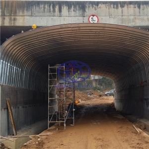 Use the corrugated steel culvert to replace the concrete culvert