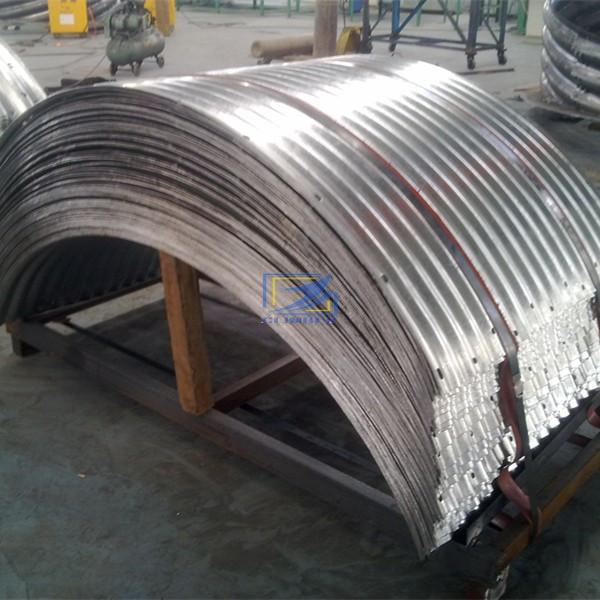 hot galvanzied corrugated metal culvert pipe with deep corrugation