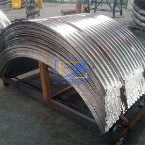 corrugated metal culvert pipe with a deep corrugation