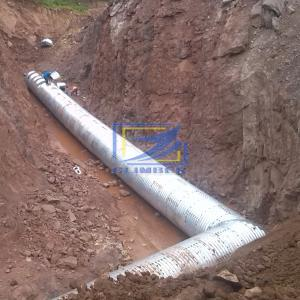 corrugated steel structural plate for culvert