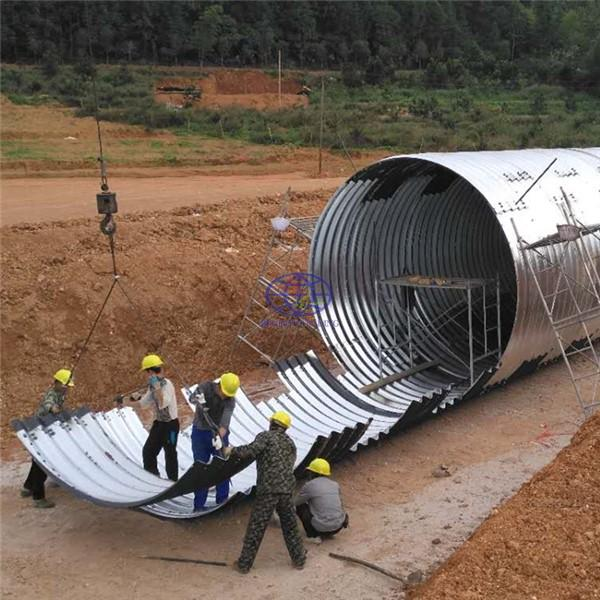 supply corrugated metallic culvert pipe in Africa