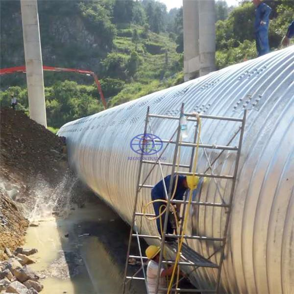 steel culvert for road construction