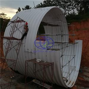hot galvanzied corrugated steel culvert pipe