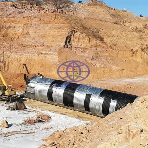hot galvanzied corrugated steel culvert  to Uganda